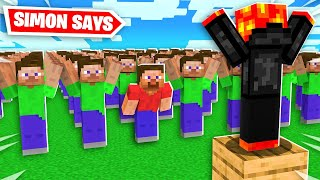EXTREME 100 Player Simon Says in Minecraft! - Challenge
