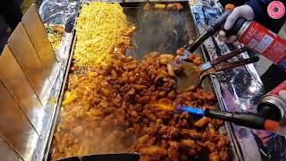 Download 부산 깡통시장 | 철판 숯불 닭갈비&라면 | (Spicy Stir-Fried Chicken&Noodle) | 한국 길거리 음식 | Korean Street Food Video