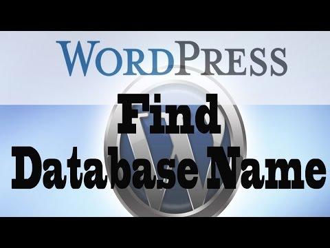 Find Database Name Of Wordpress Website