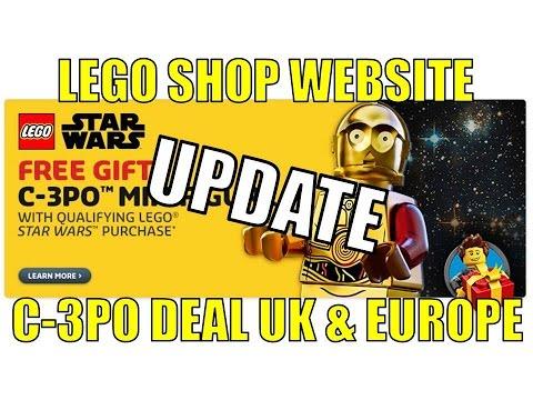 LEGO SHOP WEBSITE C-3PO PROMOTION UK & EUROPE UPDATE
