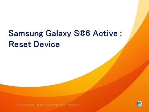 Samsung Galaxy S®6 Active: Reset Device