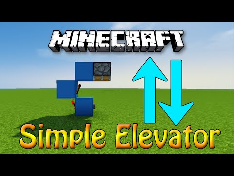 Minecraft: Most Simple Redstone ELEVATOR Tutorial