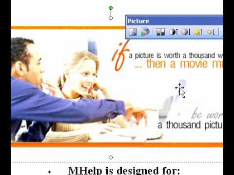 Microsoft Office Publisher 2003 Create transparent areas in a picture