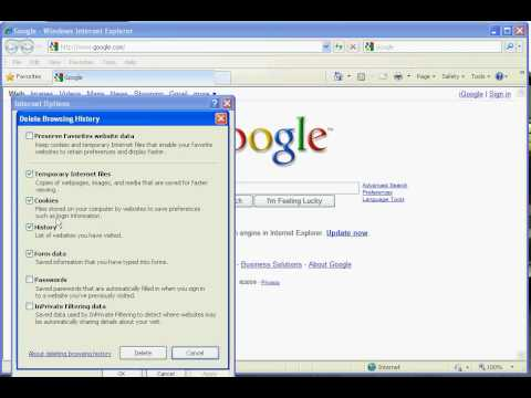 Internet Explorer 8: Clearing Cache