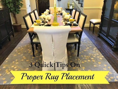 3 Quick Tips: Proper Rug Placement