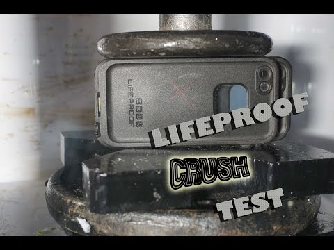 iphone Lifeproof Case Crushed by Hydraulic Press