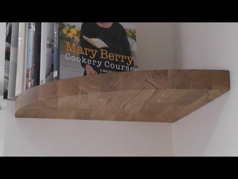 Making a Floating Oak Corner Shelf