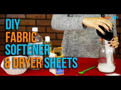EASY DIY Fabric Softener & Dryer Sheets