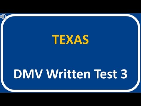 Texas DMV Written Test 3