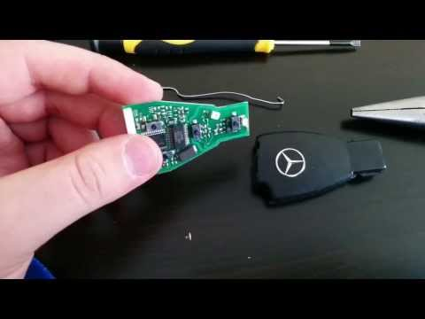 DIY How To Take Apart Mercedes Benz Key Fob Chip, Battery, and Casing Non-Destructive Method