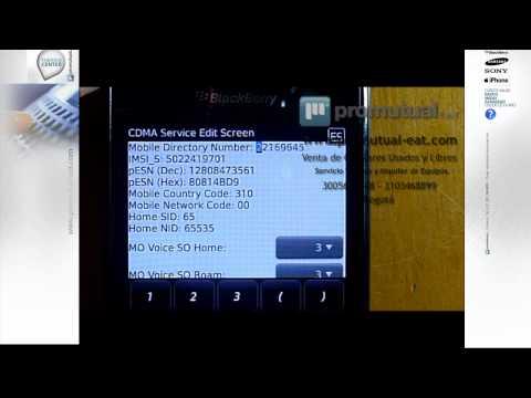BlackBerry Storm 9530 y 9550: como colocar mi número de línea en pantalla de celular