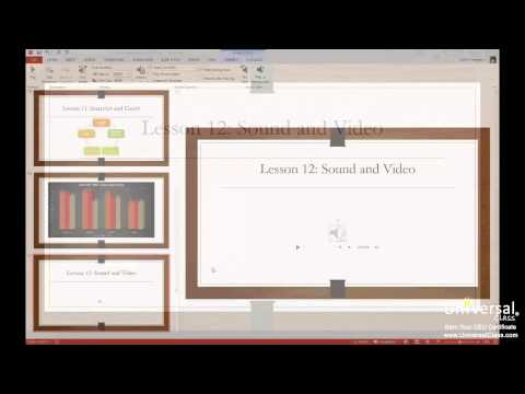 Adding Sound and Video to PowerPoint 2013 Tutorial