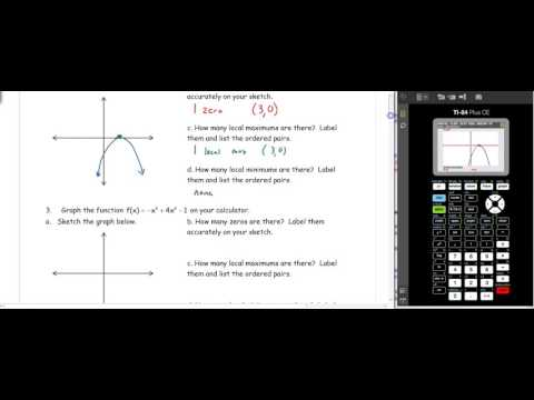 D3- Using a Calculator to find Min, Max, and Zeros of Functions