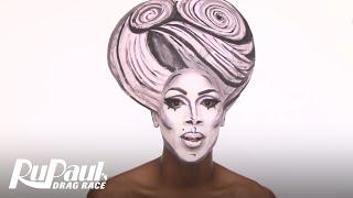 drag makeup tutorial ninas black white 3d glamour rupauls drag race season 9 now on vh1