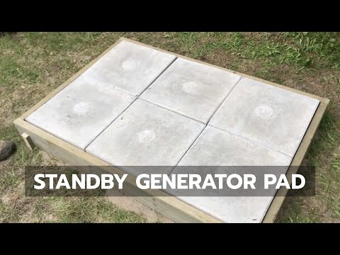 STANDBY GENERATOR PAD: How to Build a Great Pad Without Pouring Concrete