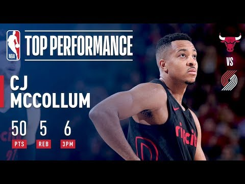 C.J. McCollum Scores a CAREER-HIGH 50 Points in 29 Minutes!  | January 31, 2018