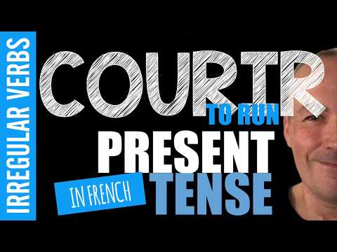 Courir present tense in French with Pascal
