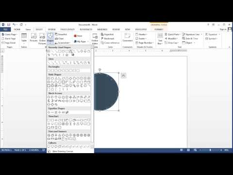 How to Draw in Windows 7 Microsoft Word : Applying Microsoft Word Knowledge