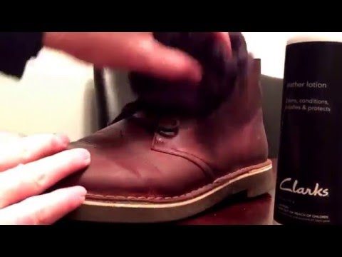 Clarks Boots Leather Lotion Tutorial - How To Treat Leather
