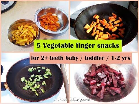 5 Vegetable Finger Snacks ( for 2+teeth baby/toddler/1-2 yrs ) | Healthy finger food snacks |