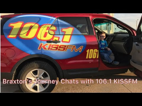 Braxton's Journey Visits with 106.1 KISS FM