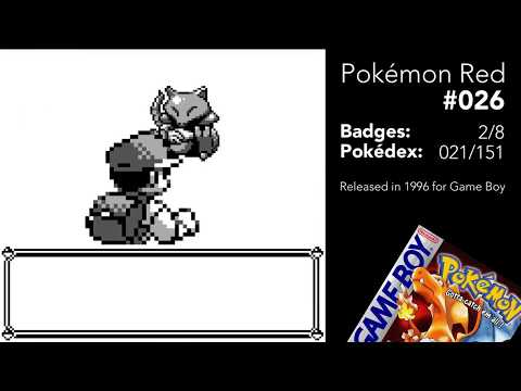 Pokemon Red 026 Evolving Jigglypuff into Wigglytuff, trying to catch Abra - Walkthrough Gameplay