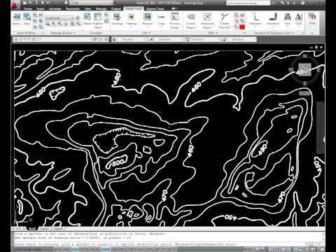 AutoCAD Raster Design Contour Conversion