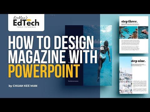 Designing Magazine Using PowerPoint - Simple Tutorial