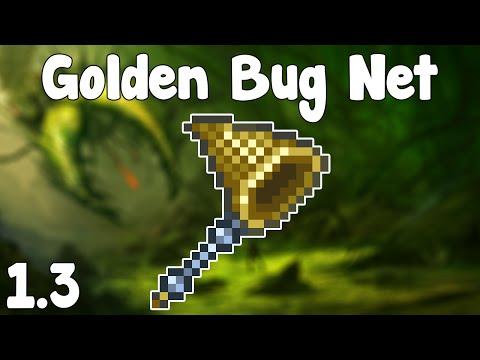 Terraria 1.3 - Golden Bug Net , INFINITE BAIT FARM + GOLDEN BUGS! - Terraria 1.3 Guide New Bug Net!