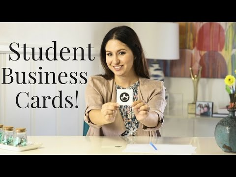 How To Create Student Business Cards! | The Intern Queen
