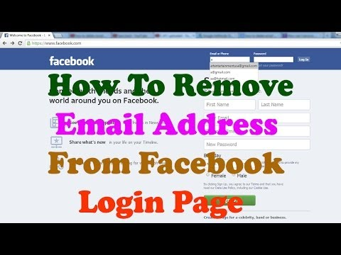 How To Delete Email Id From Facebook Login Page
