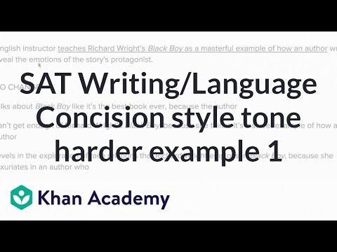 Writing: Concision — harder example | Writing & Language | SAT | Khan Academy