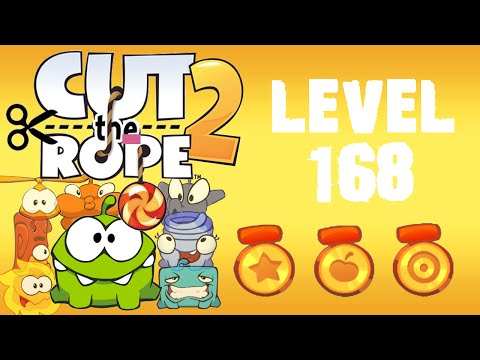 Cut the Rope 2 - Level 168 (3 stars, 54 fruits, 1 star + don't push buttons)
