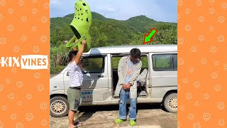 Funny videos 2021 ✦ Funny pranks try not to laugh challenge P163
