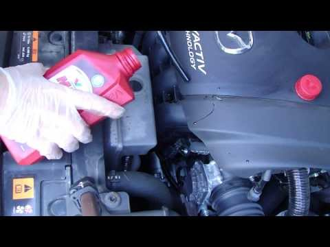 How to check coolant level Mazda 6. Years 2013 to 2019.