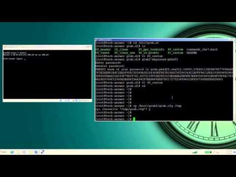 How to Set GRUB Password in RHEL 7