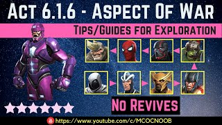 MCOC: Act 6.1.6 - Aspect of War Path - Tips/Guide - No Revives - Story quest