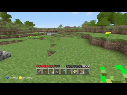Minecraft for Xbox 360 Part 25 - Planting wheat, Taming a Wolf