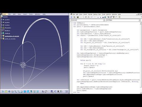 Involute - Visual Basic Scripting / Generative Shape Design - CATIA V5