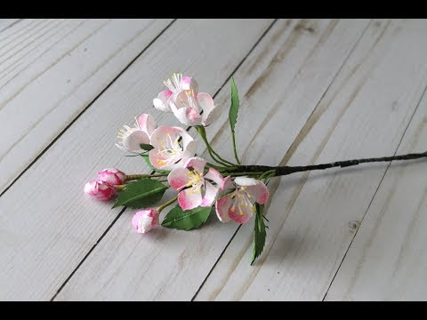 Apple Blossom Paper Flower Making by Archana Joshi