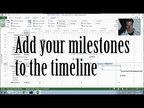 MS Project #5.2:  Add Milestones to Timeline ●  Easy  ●  Short   ● Part 2