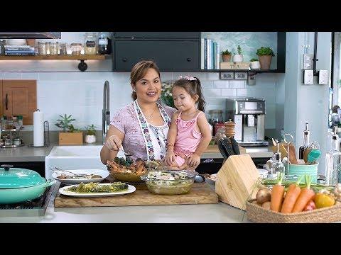 [Judy Ann's Kitchen 6]  Ep 1: My Pinoy Favorites - Binakol, Seafood Kare Kare, Tilapia