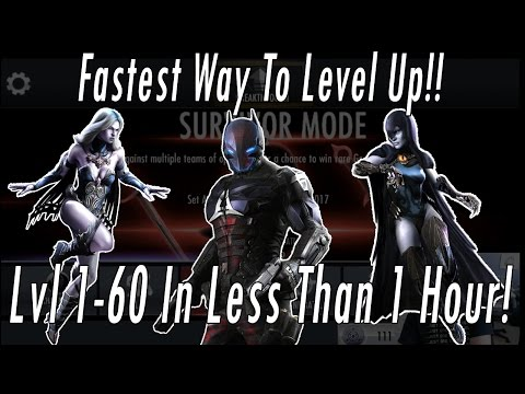Fastest Way To Level Characters!! Get Max EXP in 1 Hour!! Injustice Experience Leveling Guide!