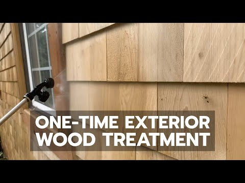 One-Time Exterior Wood Treatment