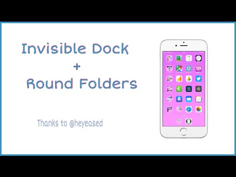 Wallpaper Glitch = Invisible Dock + Round Folders = Thanks To @heyeased