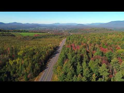 New Hampshire Fall Foliage Update Lancaster, NH 10/3/17  Drone