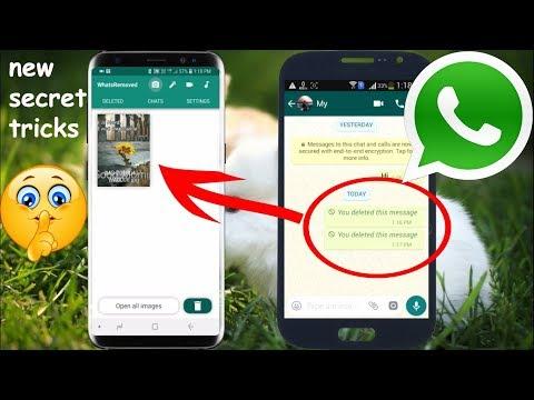 Read Delete Message, Image & Video WhatsApp New Hidden Tricks 2018 Latest