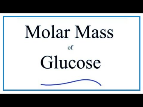 Molar Mass / Molecular Weight of C6H12O6 (Glucose)