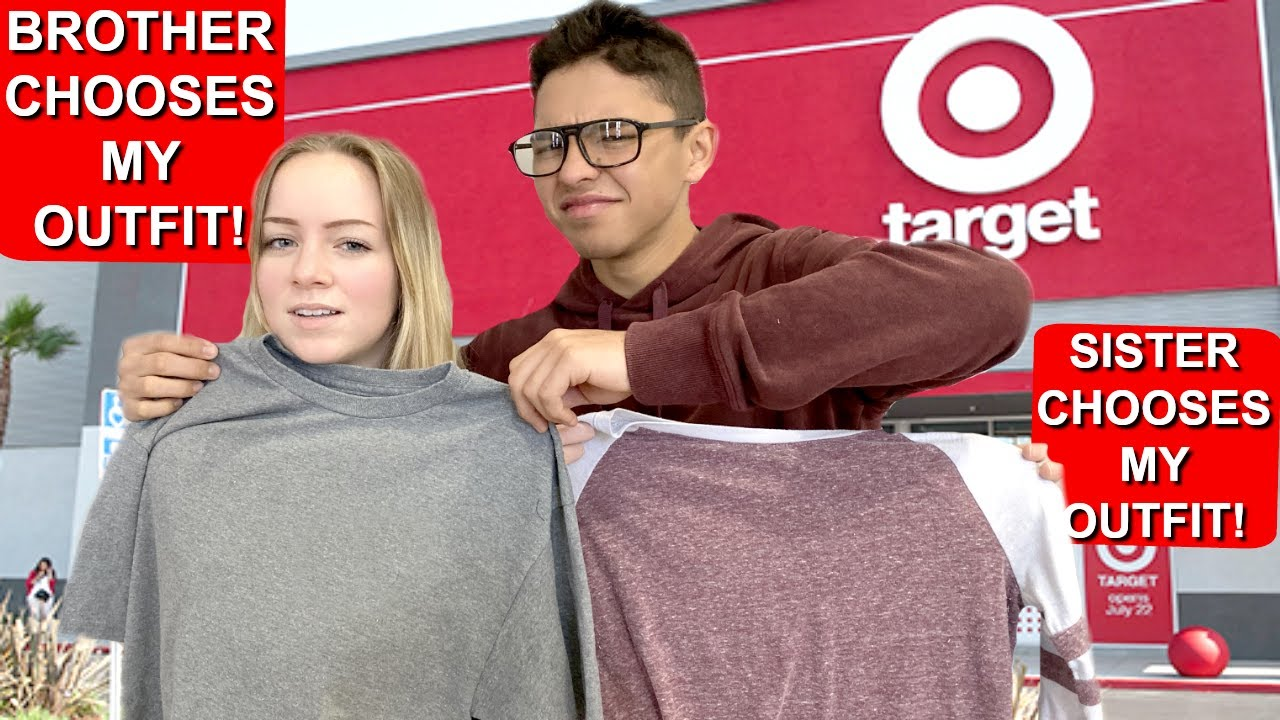 SISTER VS BROTHER | SIBLINGS BUY EACH OTHERS OUTFITS FOR SCHOOL AT TARGET!