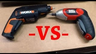 WORX 12 Bit Cordless Screw Driver Review and comparison with my current Black & Decker